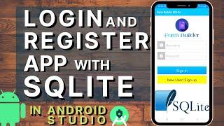 Login And Register Form Using SQLite Database In Android Studio | Login Registration Android Studio