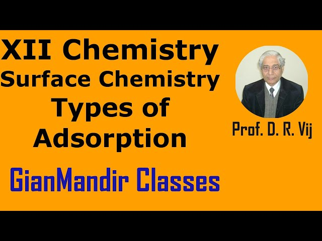 XII Chemistry | Surface Chemistry | Types of Adsorption by Gourav Sir