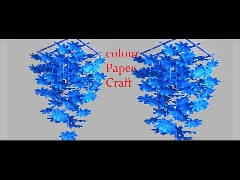 DIY Simple Home Decor ||How to make wind chimes out of paper|| A4 Paper Well hanging ||Craft Ghor