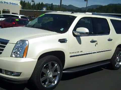 2007 Cadillac Escalade Esv Awd Diamond White Enumclaw Seattle