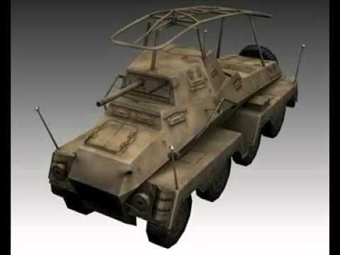 3D Model WW2 German Sd.Kfz.232 Recon