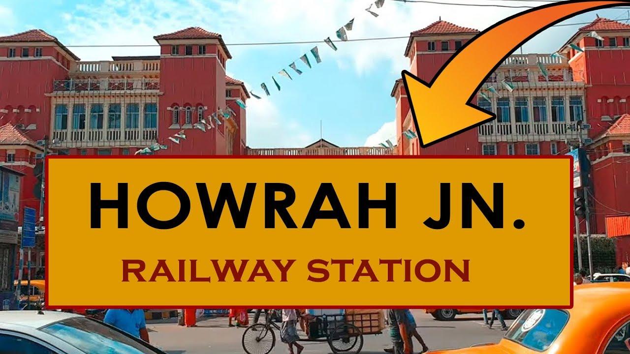 HWH, Howrah Junction railway station, India in 4K Ultra HD