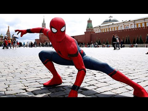 Spider-Man Homecoming Takes On Moscow