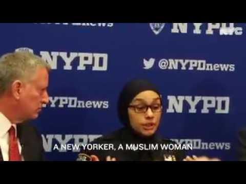 Mayor New York is helped Muslim Women Police