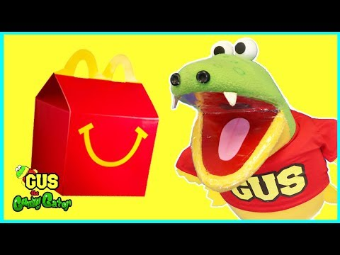 Gus Pranks Friends with Giant Spider on McDonalds Happy Meal Funny Kids Video