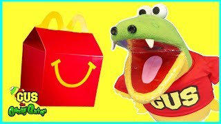 McDonalds Happy Meal Does Not Taste Good with Giant Bugs