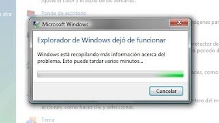 Error el explorador de windows dejo de funcionar|Solucion|