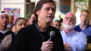 Jim Carrey Delivers A Speech To Former Inmates