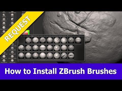 How to install ZBrush Brushes - YouTube