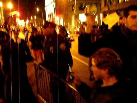 New School protest against Bob Kerrey New York City 12-18-08 pt1