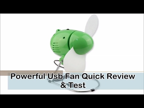 Powerful Usb Fan Quick Review & Test (HD)
