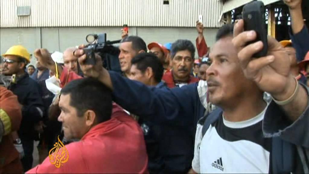 Venezuela's president tours refinery fire