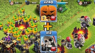 Pumpkin Barbarian Vs Giant Skeleton - New Update Gameplay Clash of Clans