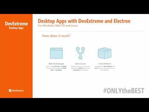 Building Desktop Apps for Windows, Mac OS and Linux with DevExtreme