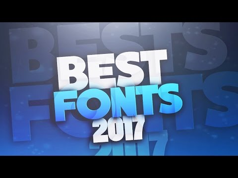 FREE | BEST FONTS | FOR GFX DESIGN IN 2017