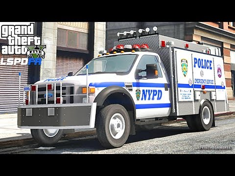 LSPDFR #594 NYPD ESU PATROL!! (GTA 5 REAL LIFE POLICE PC MOD) F550