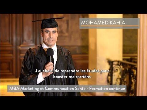[ITW Diplômé] Mohamed Kahia  - MBA Marketing Et Communication Santé - Formation Continue