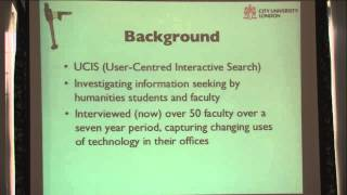 George Buchanan - Finding Information: Effects of Collaboration and Place