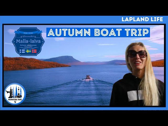 Lake Kilpisjärvi boat trip in Autumn - Three borders boat trip