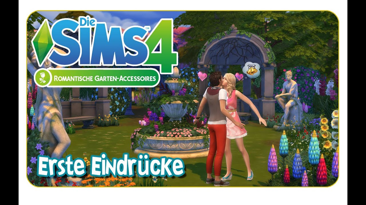 Die Sims 4 Erste Eindrücke Romantische Garten Accessoires