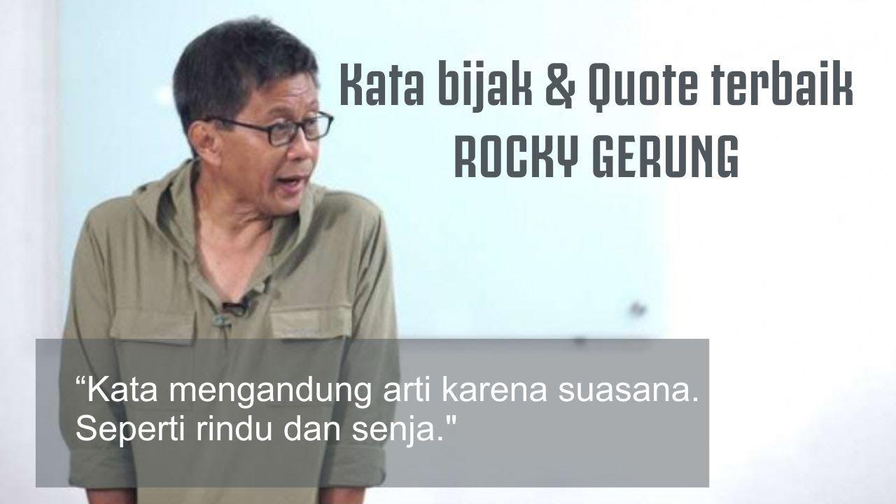 kata bijak quote terbaik rocky gerung