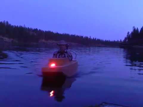 Night Cruise On Fishtrap Lake Near Spokane WA