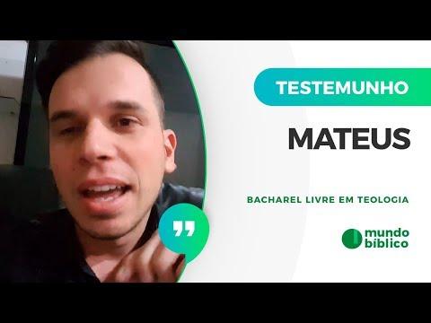 ♍DEPOIMENTO: MATEUS - BACHAREL LIVRE EM TEOLOGIA - MUNDO BÍBLICO🗽