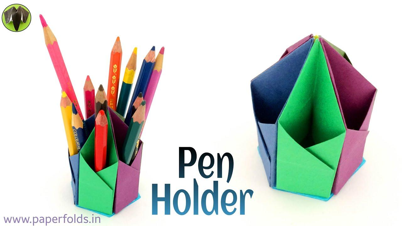 Hexagonal Pen Pencil Holder Diy Tutorial By Paper
