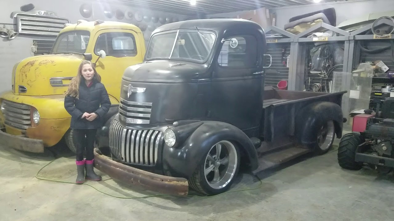 Ls swapped 1942 chevy cabover coe - YouTube