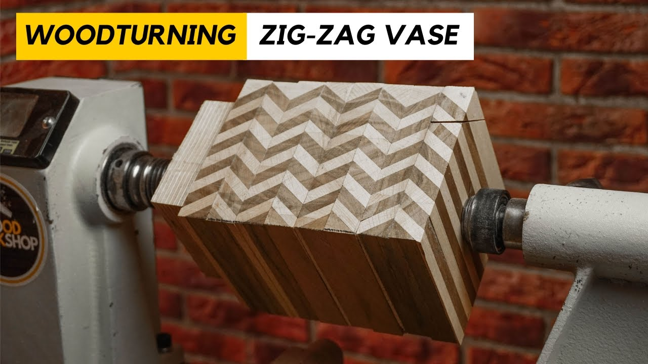 Woodturning - The Zig-Zag Vase