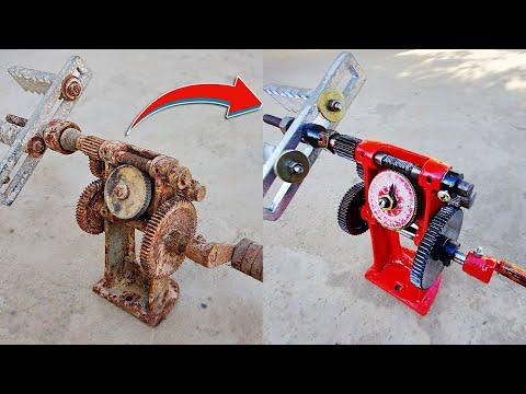 Rusty Coil Winding Machine Restoration