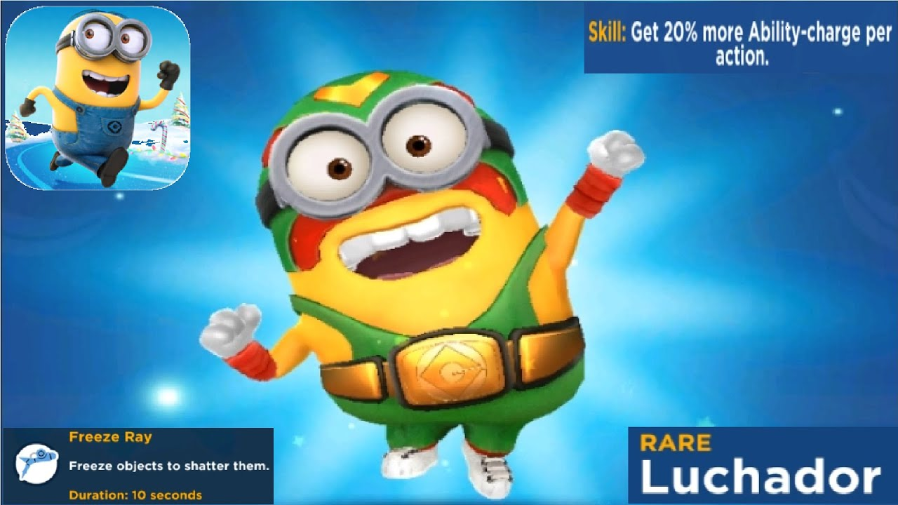 Minion Rush Unlock NEW Costume LUCHADOR gameplay walkthrough ios & android