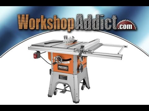 Ridgid r4512 10 inch hybrid table saw youtube ridgid r4512 10 inch hybrid table saw greentooth Image collections