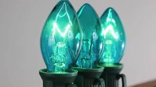 Teal C7 Twinkle Bulbs