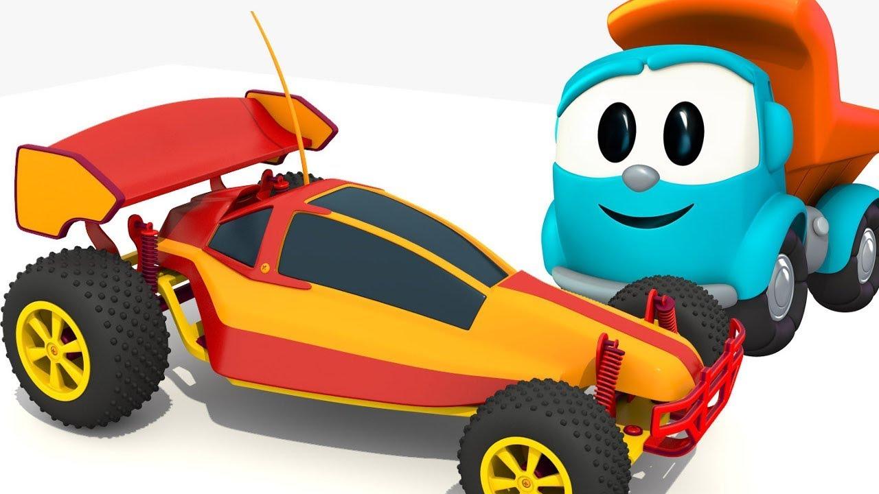 L o le camion curieux construction d 39 une voiture de - Course de voiture dessin anime ...