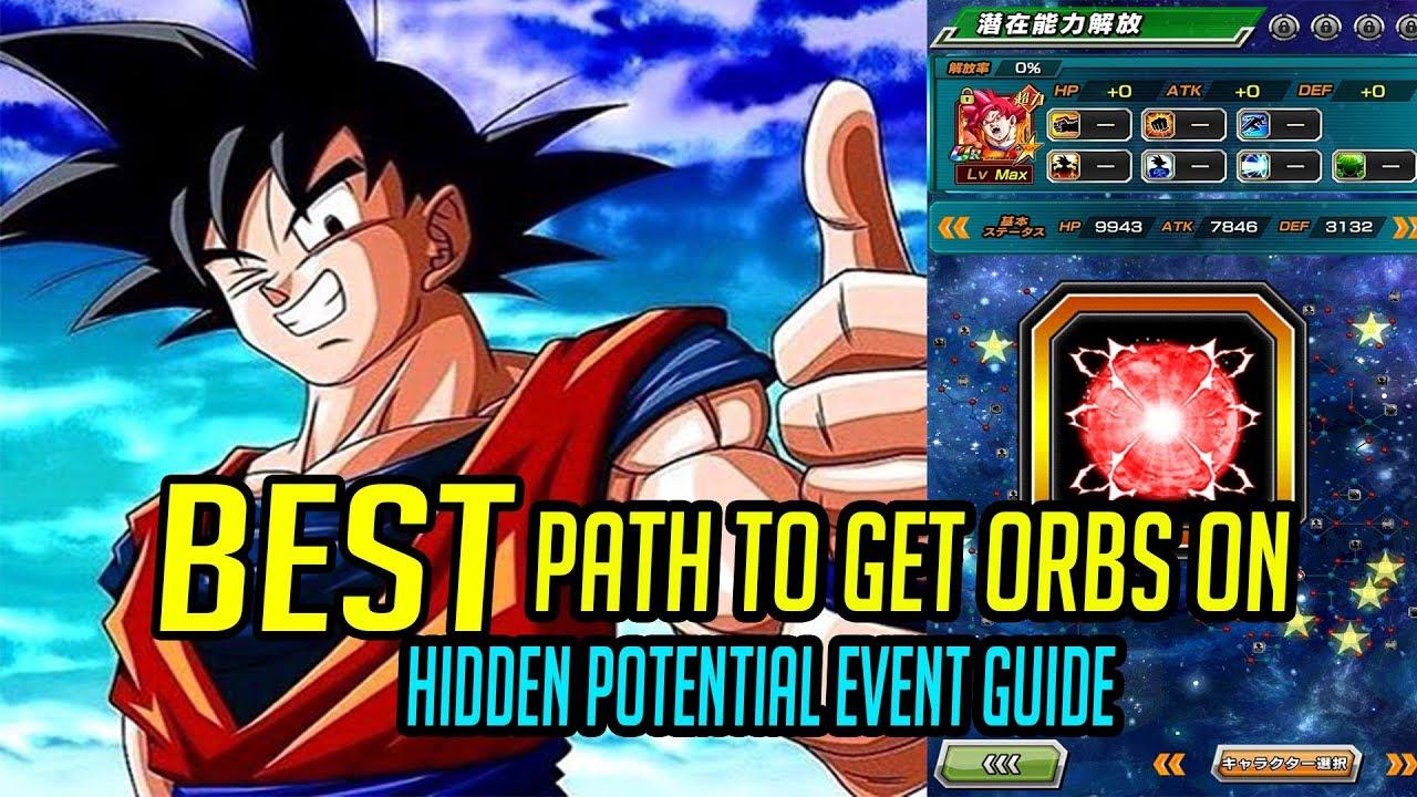 Hidden Potential Event Guide | Best Path for Orbs | DBZ Dokkan Battle