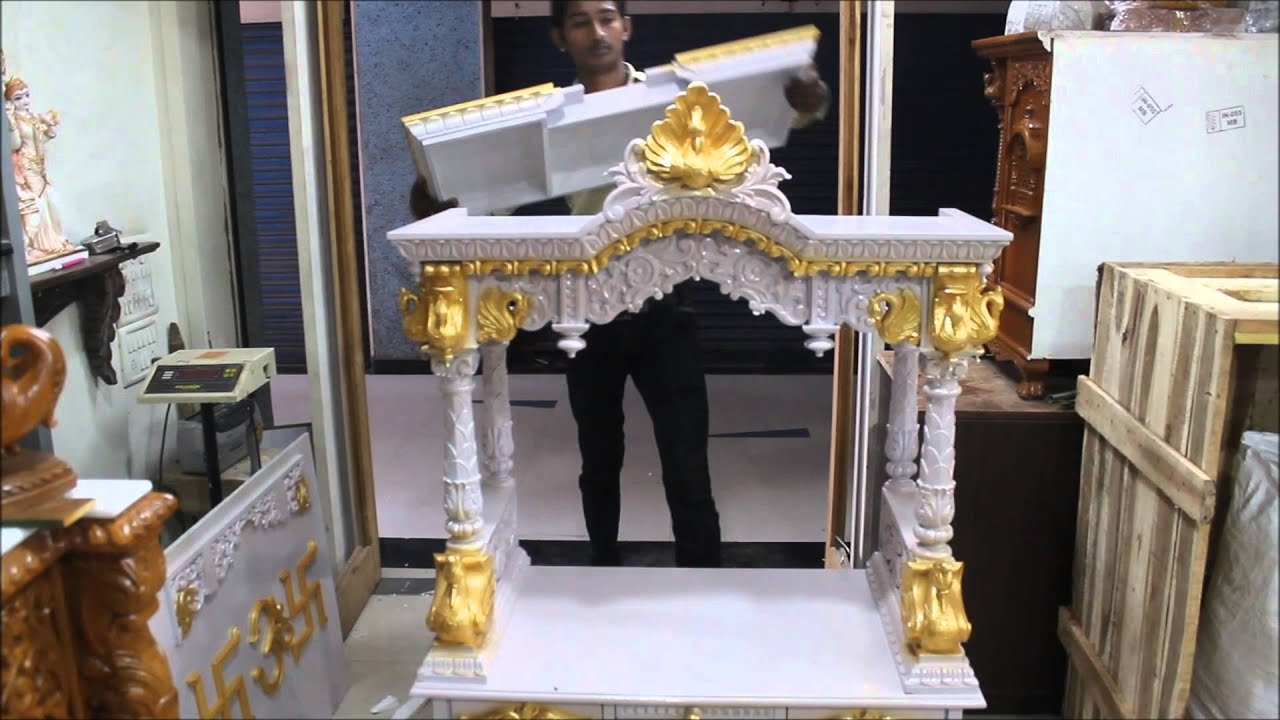 How to assemble a pooja temple at home youtube for Temples at home designs