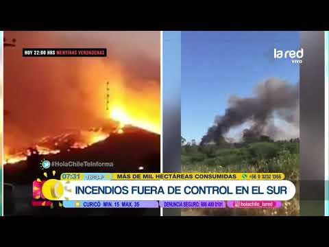 Emergencia en el sur de Chile: Onemi decreta alerta roja por incendios forestales