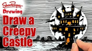 How to draw a Creepy Castle