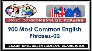Video 900 Most Common English Phrases - 02 - Basic English Lessons download MP3, 3GP, MP4, WEBM, AVI, FLV November 2018