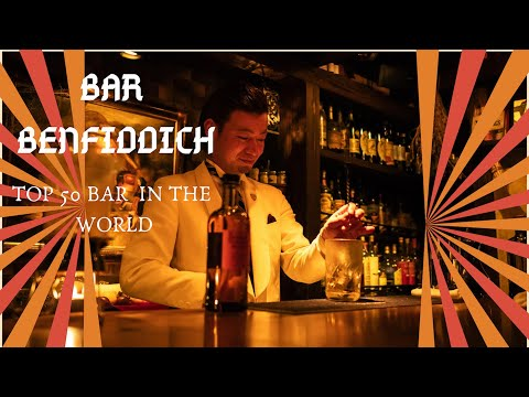 bar benfiddich with hiroyasu  kayama behind the bar