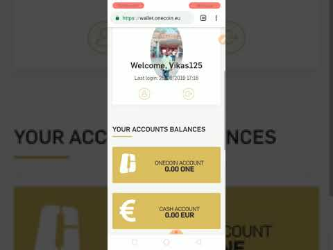 #onecoin #bitcoin #cryptocurrency  Onecoin login and cash issue