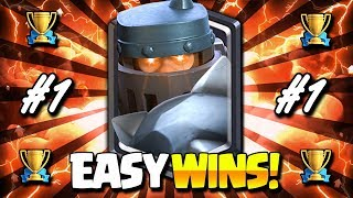 NEW MEGA KNIGHT POWER DECK after UPDATE!! EASY LADDER WINS!