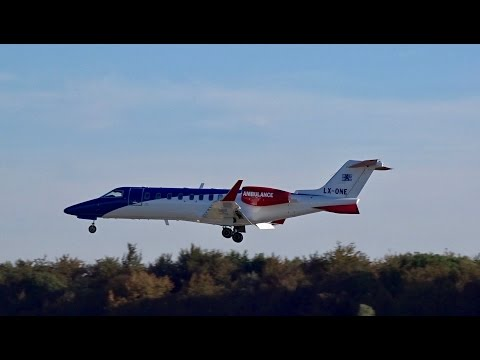 Luxembourg Air Ambulance | LX-ONE - LearJet 45XR | Landing a