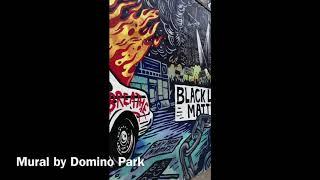 Corona BLM Mural by Domino Park #brooklyn #corona #pandemic #blm