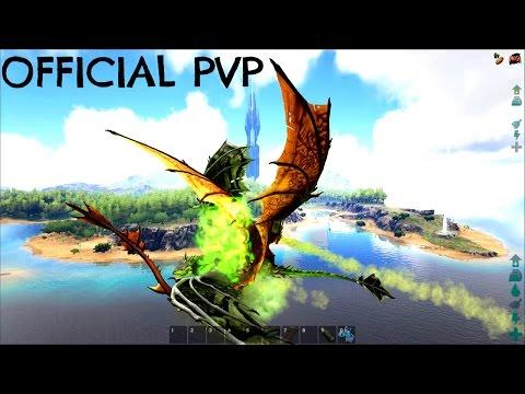AERIAL WYVERN PVP PRACTICE w/ Battle Quetz Build - Official Server (E77) - ARK Survival