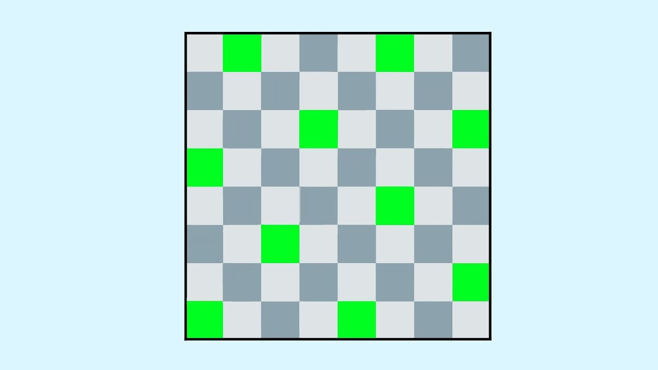 90 Клетки, с которыми каждая клетка доски граничит по одной стороне