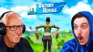 Teaching MY DAD Fortnite