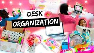 Diy Desk Organization & Decoration Ideas! + My Desk Essentials!