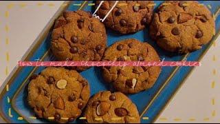비건베이킹 | 초코칩 아몬드 쿠키 만들기? | No 버…